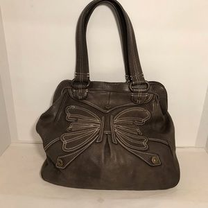 Gap 1969 Taupe Brown Soft Leather Shoulder Bag
